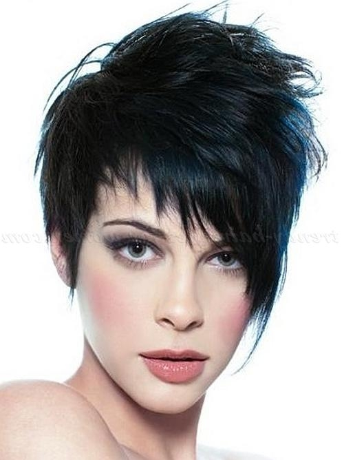 Short Hairstyles With Long Bangs – Short Asymmetrical Hairstyle In Asymmetrical Short Hairstyles (View 16 of 20)