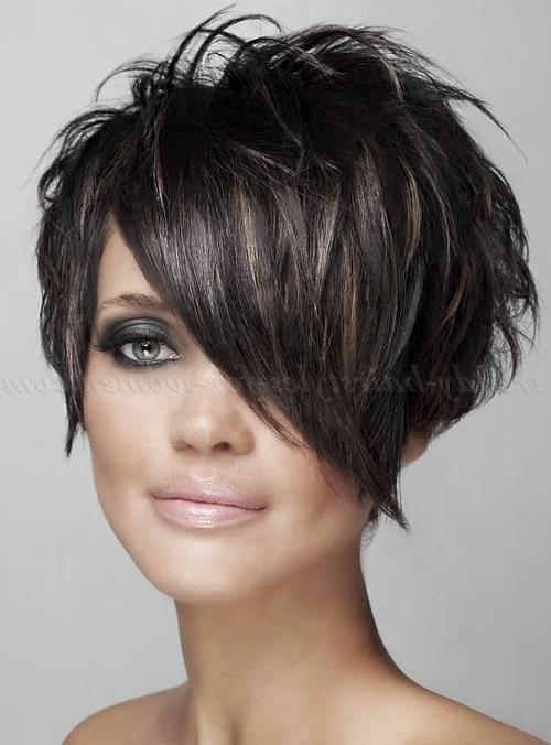 Short Hairstyles With Long Bangs – Short Haircut With Long Bangs Inside Short Haircuts With Longer Bangs (View 8 of 20)