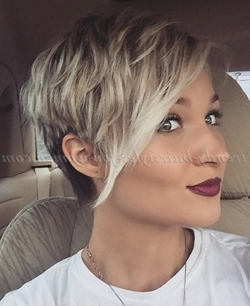Short Hairstyles With Long Bangs – Short Haircut With Long Bangs With Regard To Short Haircuts With Long Fringe (View 12 of 20)