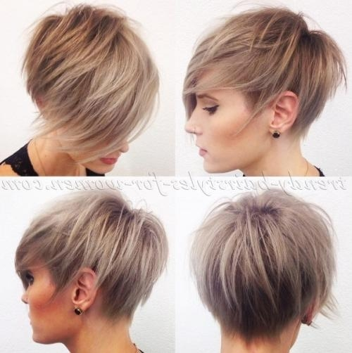 Short Hairstyles With Long Bangs – Short Haircut With Long Fringe Pertaining To Short Haircuts With Long Fringe (View 10 of 20)