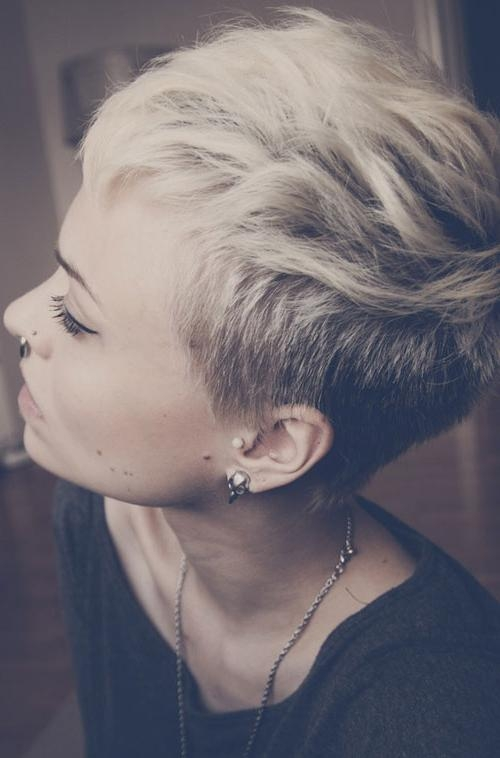 Short Side Shaved Hair | Short Hairstyles 2016 – 2017 | Most Intended For Short Hairstyles With Shaved Sides For Women (View 2 of 20)