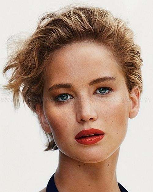 Short Wavy Hairstyles – Jennifer Lawrence Short Hairstyle | Trendy Intended For Jennifer Lawrence Short Hairstyles (View 19 of 20)