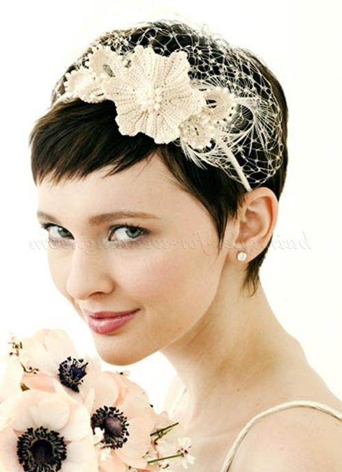Short Wedding Hairstyles – Bridal Hairstyle For Short Hair With Regarding Short Hairstyles With Headband (View 18 of 20)