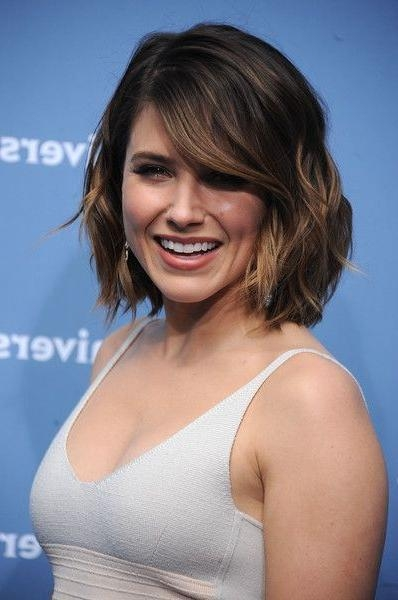 Sophia Bush Short Wavy Cut | Short Wavy, Wavy Bobs And Bobs For Sophia Bush Short Hairstyles (View 5 of 20)