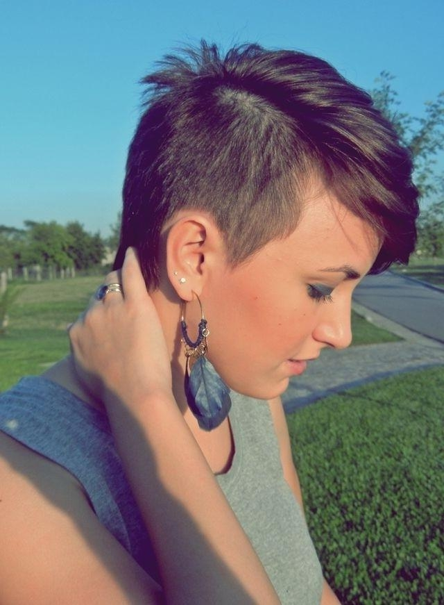 Stylish Short Shaved Hairstyles: Short Hair 2014  2015 – Popular Throughout Short Hairstyles One Side Shaved (View 18 of 20)