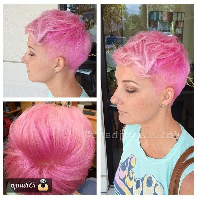 Summer Hair Ideas – 29 Short Hairstyles To Inspire Your Summer For Pink Short Haircuts (View 19 of 20)