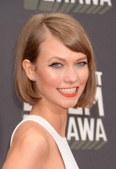 Sweet Short Haircut – Blonde Bob Hairstyle For Short Hair From Intended For Karlie Kloss Short Haircuts (View 3 of 20)