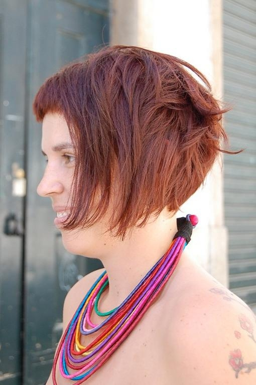 Swirly, Curvy Fringed Bob Cut & Bright Brown Colour – Hairstyles Throughout Short Hairstyles For Curvy Women (View 9 of 20)