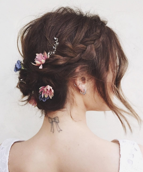 The 13 Best Updos For Short Hair | Glamour For Updo Short Hairstyles (View 18 of 20)