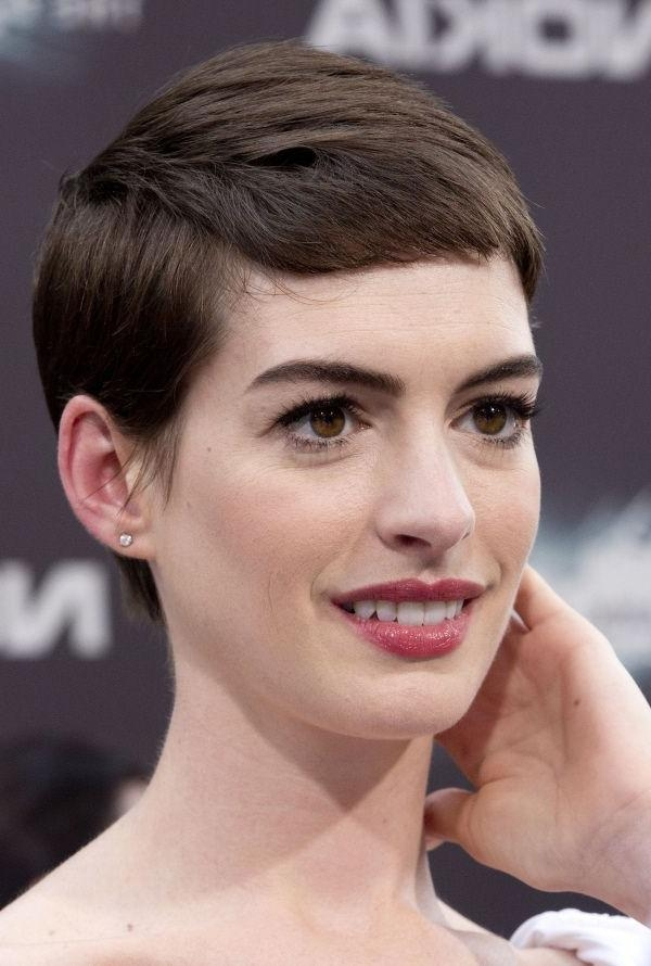 The 25+ Best Anne Hathaway Short Hair Ideas On Pinterest | Anne Pertaining To Anne Hathaway Short Haircuts (View 20 of 20)