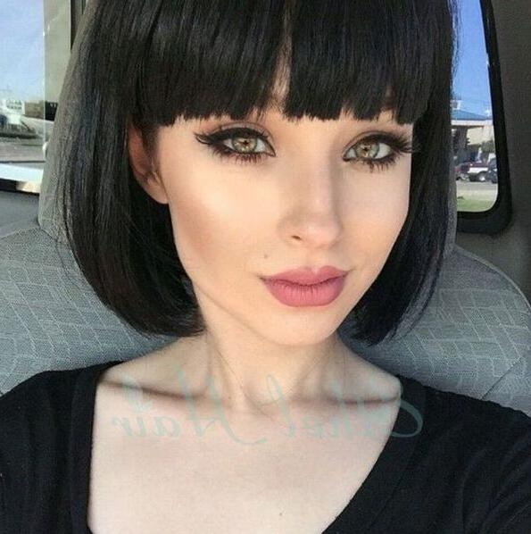 The 25+ Best Blunt Bangs Ideas On Pinterest | Medium Bob With Intended For Short Hairstyles With Blunt Bangs (View 20 of 20)