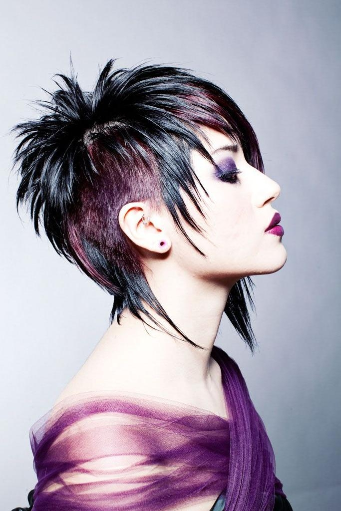 The 25+ Best Funky Short Hair Ideas On Pinterest | Funky Hair For Purple And Black Short Hairstyles (View 17 of 20)