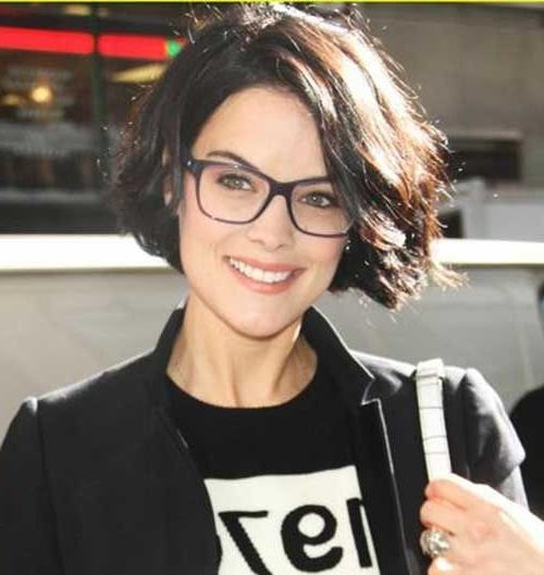 The 25+ Best Glasses For Round Faces Ideas On Pinterest | Specs For Short Haircuts For Women With Glasses (View 18 of 20)