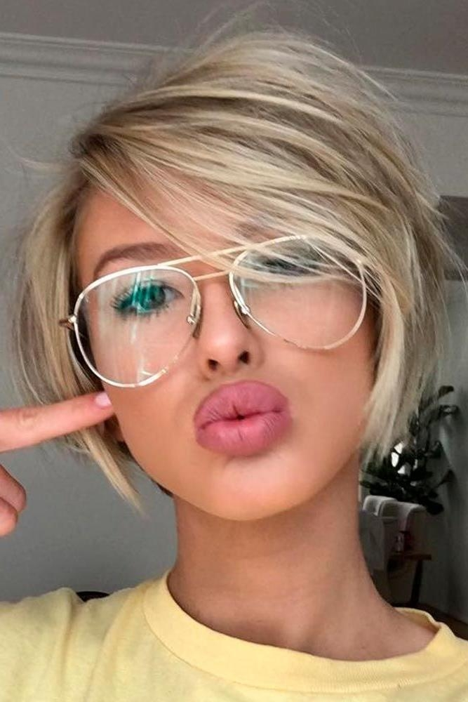 The 25+ Best Glasses For Round Faces Ideas On Pinterest | Specs Pertaining To Short Haircuts For Girls With Glasses (View 20 of 20)
