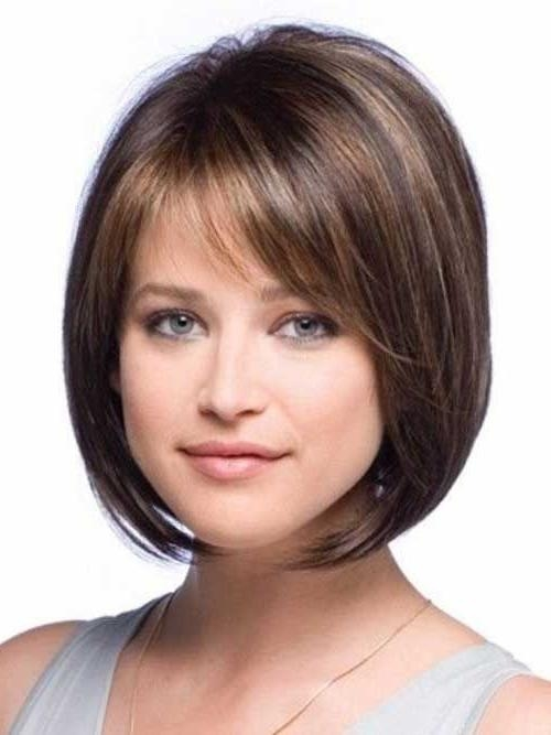 The 25+ Best Round Faces Ideas On Pinterest | Hair Round Faces Pertaining To Short Hairstyles With Bangs For Round Face (View 18 of 20)