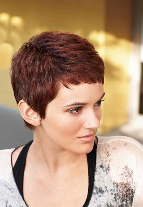 The 25+ Best Short Auburn Hair Ideas On Pinterest | Red Highlights In Auburn Short Hairstyles (View 12 of 20)