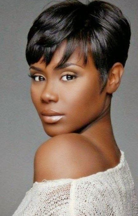 The 25+ Best Short Black Hairstyles Ideas On Pinterest | Short Inside Short Haircuts For Black Woman (View 20 of 20)