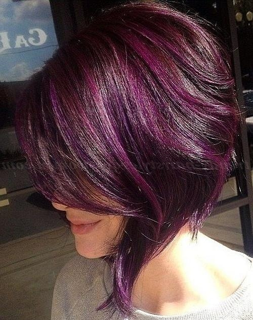 The 25+ Best Short Purple Hair Ideas On Pinterest | Short Lilac Intended For Purple And Black Short Hairstyles (View 18 of 20)