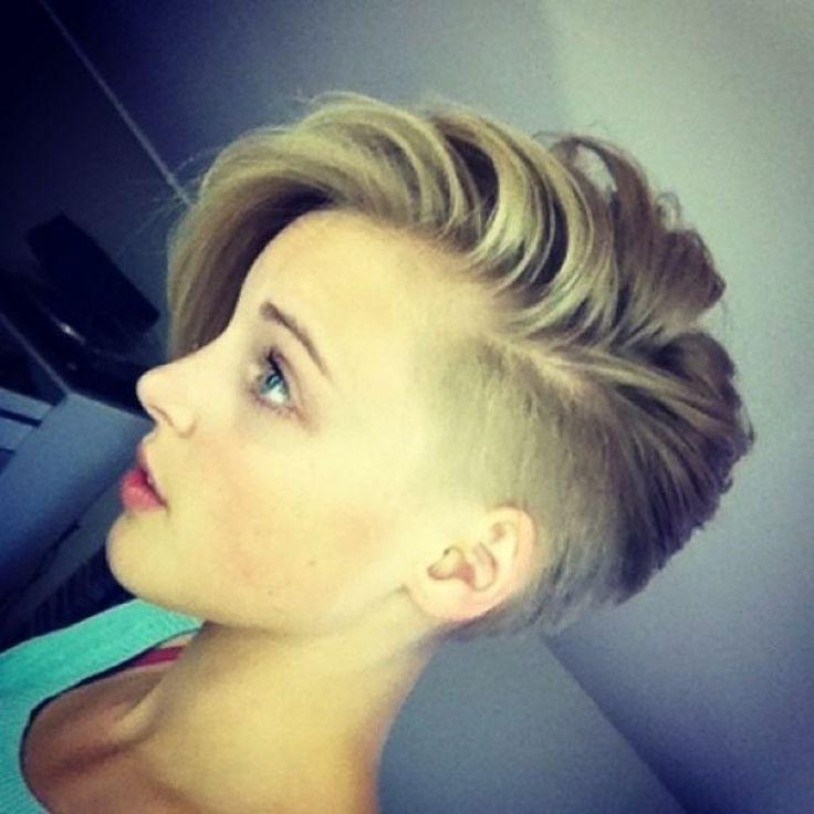 The 25+ Best Short Shaved Hairstyles Ideas On Pinterest | Shaved Within Short Haircuts With Shaved Side (View 19 of 20)