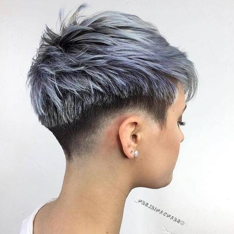 The 25+ Best Short Shaved Hairstyles Ideas On Pinterest | Shaved Within Short Haircuts With Shaved Sides (Gallery 15 of 20)