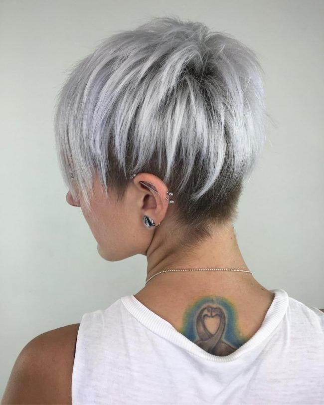 The 25+ Best Short Silver Hair Ideas On Pinterest | Grey Hair Bob Regarding Gray Short Hairstyles (View 11 of 20)
