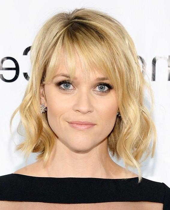 The Best Celebrity Bangs | Reese Witherspoon, Bangs And Short Hair With Regard To Short Haircuts With Wispy Bangs (View 19 of 20)