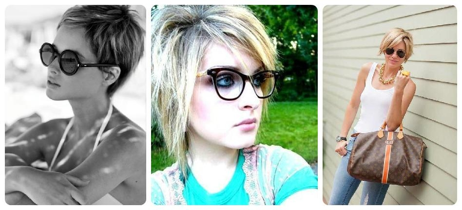 The Best Short Hairstyles To Wear With Glasses – Hair World Magazine Regarding Short Haircuts With Bangs And Glasses (View 13 of 20)