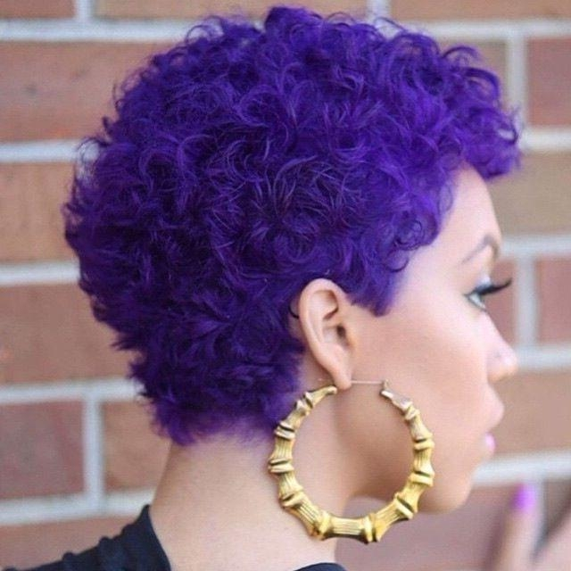 This Purple Curly Twa Is Absolutely Gorgeous | Give Me Color Regarding Purple And Black Short Hairstyles (View 19 of 20)