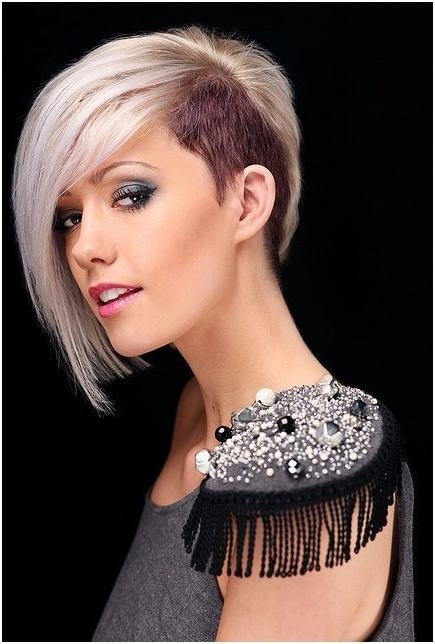 Trendy, Blunt Short Haircuts, Platinum Blonde Hairstyles – Popular Intended For Platinum Blonde Short Hairstyles (View 5 of 20)