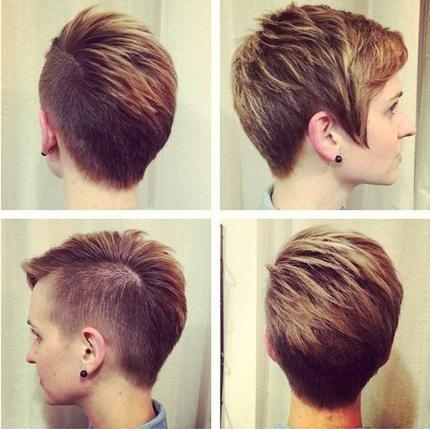 Trendy Short Cut For Women – The Shaved Pixie Cut – Hairstyles Weekly With Short Haircuts With One Side Shaved (View 19 of 20)