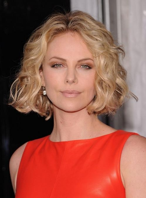 Trendy Short Haircut For Women: Soft Curly Bob Hairstyle Inside Center Part Short Hairstyles (View 12 of 20)