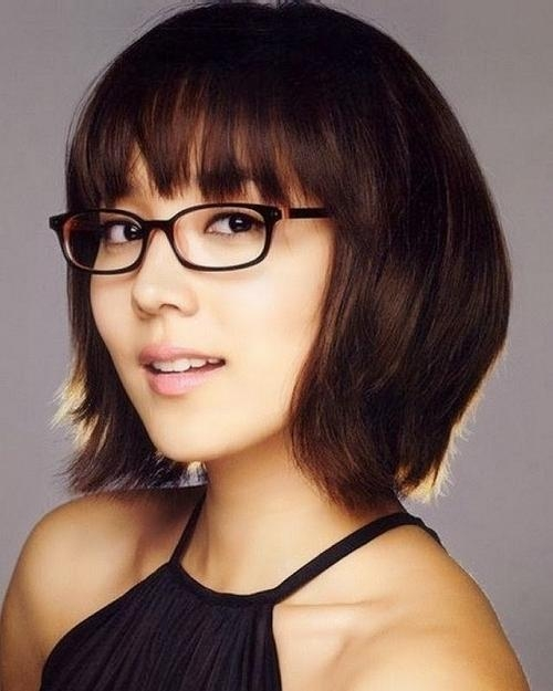 Trendy Short Hairstyles For Girls With Glasses – New Hairstyles Regarding Short Haircuts For People With Glasses (View 20 of 20)