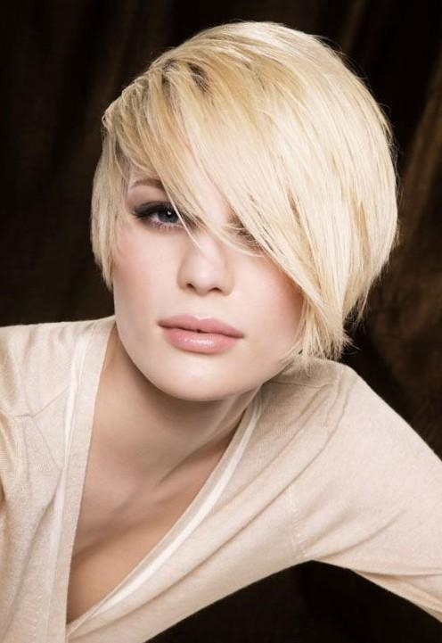 Trendy Short Messy Hairstyle With Side Sweep Bangs – Pretty Designs With Side Swept Short Hairstyles (View 17 of 20)