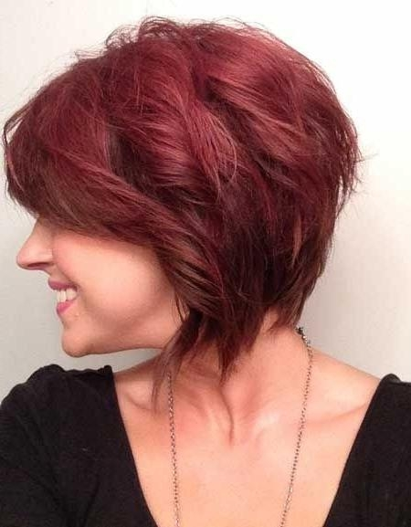 Trendy Short Wavy Hairstyles: Red Haircut For Women – Popular Haircuts Throughout Short Hairstyles For Red Hair (View 20 of 20)