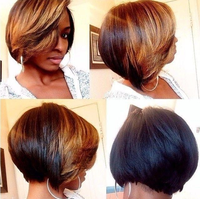 Trendy Two Tone Short Hairstyle For Black Women – Hairstyles Weekly Within Bob Short Hairstyles For Black Women (View 20 of 20)