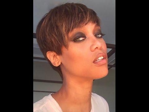 Tyra Banks Debuts Short Pixie Haircut – Youtube Pertaining To Tyra Banks Short Hairstyles (View 13 of 20)