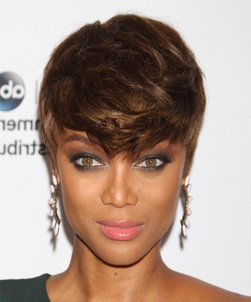 Tyra Banks Short Straight Casual Pixie Hairstyle – Medium Brunette In Tyra Banks Short Hairstyles (View 19 of 20)
