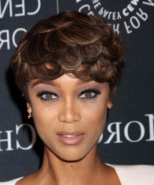 Tyra Banks Short Straight Formal Hairstyle – Dark Brunette Hair Color With Tyra Banks Short Hairstyles (View 20 of 20)