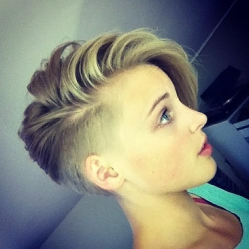 Undercut For Teenagers One Side Shaved Hairstyles For Short Hair Intended For Short Hairstyles One Side Shaved (View 20 of 20)
