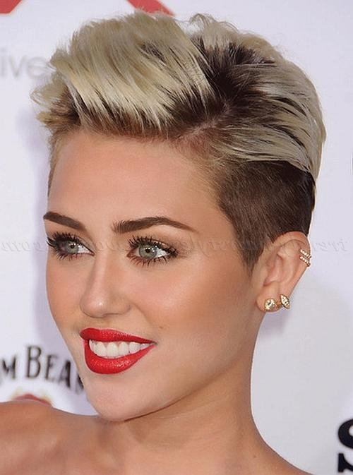 Undercut Hairstyles For Women – Miley Cyrus Undercut Hairstyle Regarding Short Haircuts Like Miley Cyrus (Gallery 19 of 20)