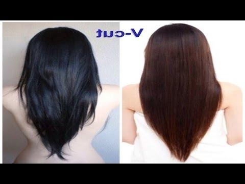V Cut Beautiful Hairstyle For Women – Youtube Pertaining To V Shaped Layered Short Haircuts (View 20 of 20)