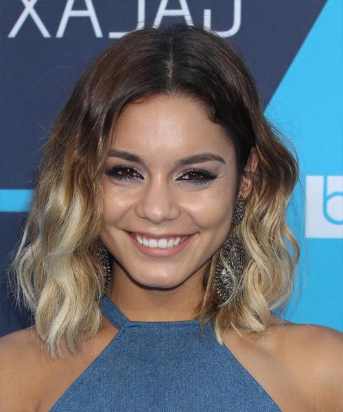 Vanessa Hudgens Medium Wavy Casual Hairstyle – Medium Brunette In Vanessa Hudgens Short Hairstyles (View 9 of 20)