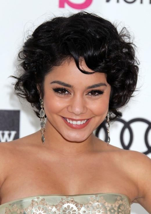 Vanessa Hudgens Short Curly Bob Hairstyle – Hairstyles Weekly Pertaining To Vanessa Hudgens Short Hairstyles (View 11 of 20)