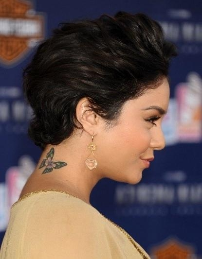 Vanessa Hudgens' Short Hair: She Hates Her New Cut, But Do You Throughout Vanessa Hudgens Short Haircuts (View 17 of 20)