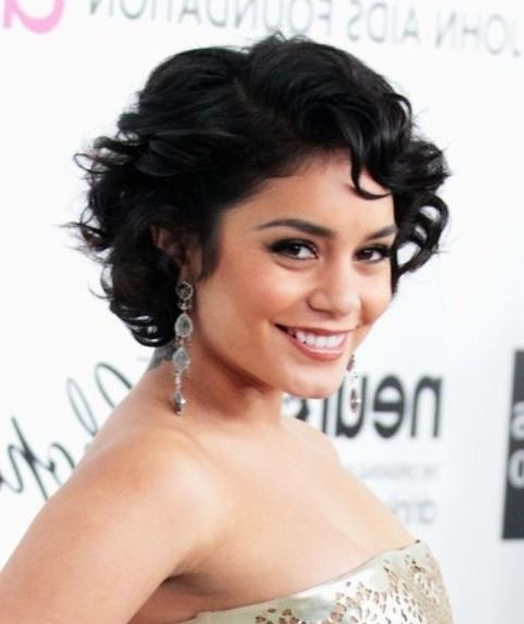 Vanessa Hudgens Short Hairstye: Curly Bob – Pretty Designs In Vanessa Hudgens Short Hairstyles (Gallery 15 of 20)