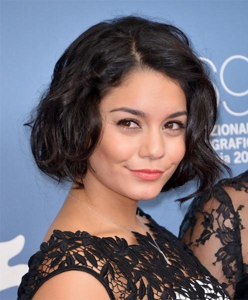 Vanessa Hudgens' Short Hairstyle: Chic 'great Gatsby' Wavy Bob Cut Pertaining To Vanessa Hudgens Short Hairstyles (View 20 of 20)