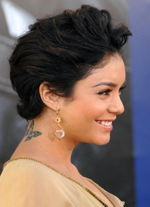 Vanessa Hudgens Short Hairstyle: Teased Haircut – Pretty Designs Throughout Teased Short Hairstyles (View 5 of 20)