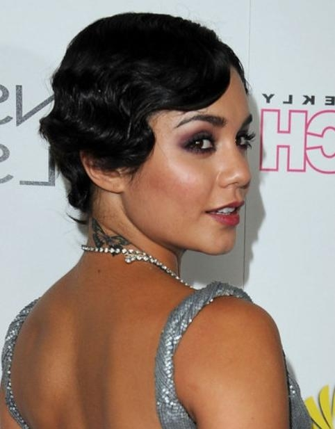 Vanessa Hudgens Short Hairstyles: Featured Side Part – Pretty Designs With Vanessa Hudgens Short Haircuts (View 6 of 20)