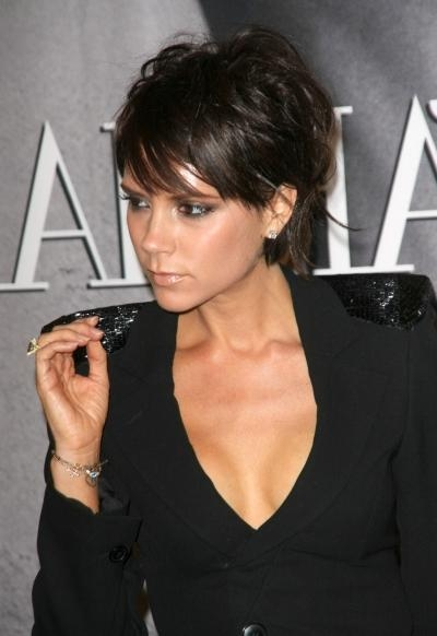 Wedding Updo Hairstyle: Victoria Beckham Haircut Hair Style Pictures Inside Posh Short Hairstyles (View 12 of 20)