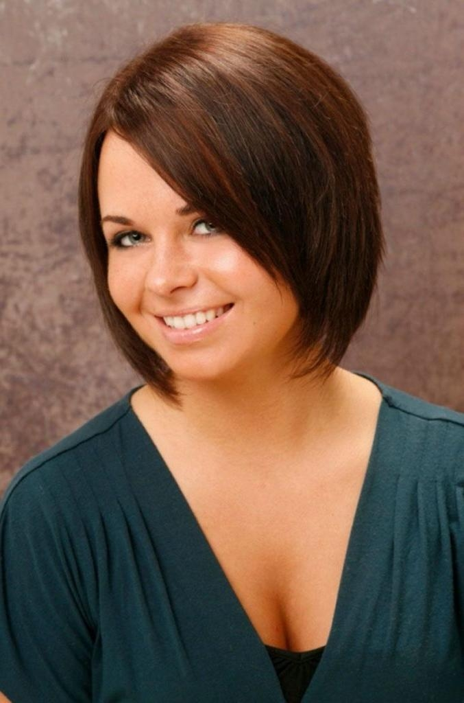 Women Hairstyle : Short Haircuts For Round Faces Female Hair Inside Short Haircuts For Big Round Face (View 19 of 20)